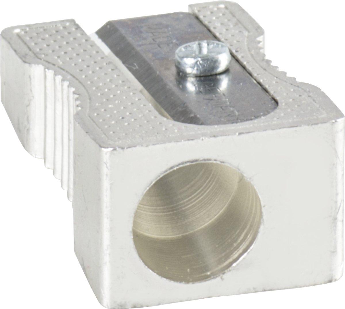 Brunnen 1029896 Spitzer aus Metall, Einfachspitzer, 2,5 x 1 x1 cm, für Stifte bis 8 mm Durchmesser) Baier & Schneider
