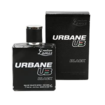 URBANE UB BLACK BY CREATION LAMIS COLOGNE FOR MEN 3.3 OZ / 100 ML EAU DE