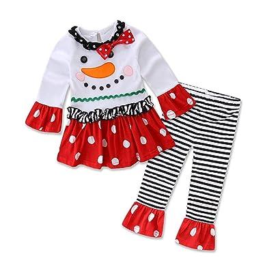 K-Youth Chandal Bebe Niña Conjuntos Niña Navidad Muñeco de Nieve ...