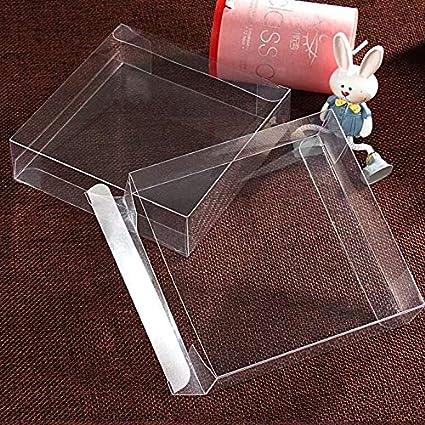 7.5 * 7.5 * 1 cm 10 Pcs Cajas de embalaje de plástico transparente ...