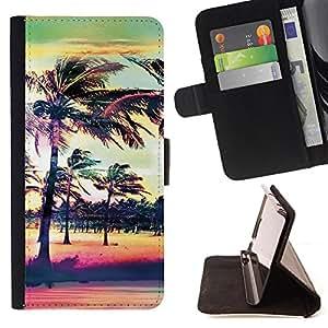 Jordan Colourful Shop -Hawaii Palm Trees Beach -- Leather Case Absorciš®n cubierta de la caja de alto impacto FOR Samsung Galaxy S6 G9200 ---