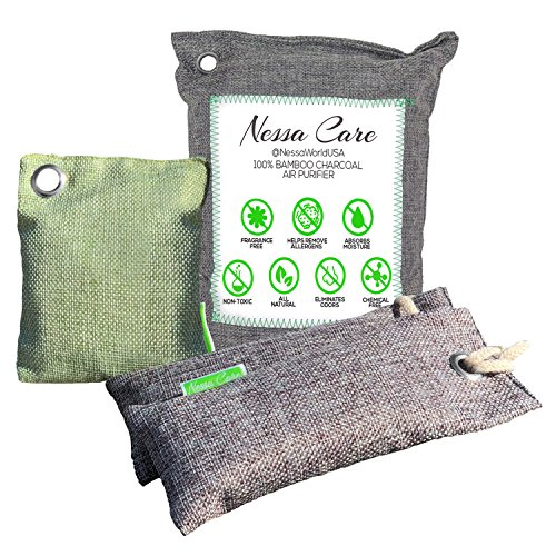 Nessa Care Natural Bamboo Charcoal Air Freshener Purifier Odor Eliminator Deodorizer 4 Bags by Nessa Care