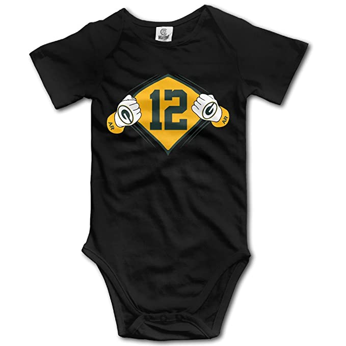 defe60104f2 Aaron Rodgers Green Bay Packers Boy s Short Sleeve Rompers Suit ...