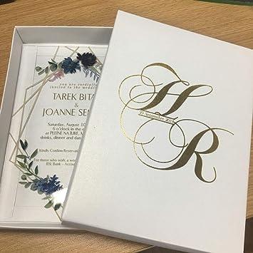 Tarjetas y invitaciones - Tarjeta de invitación de acrílico con ...