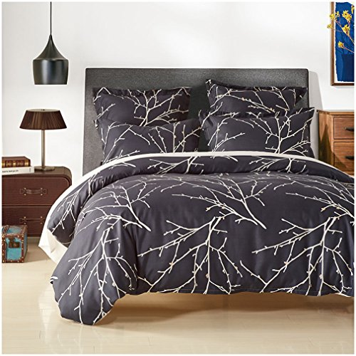 3 Piece Sets of Duvet Cover Bedding,Ultra-Soft Microfiber ,Printed With