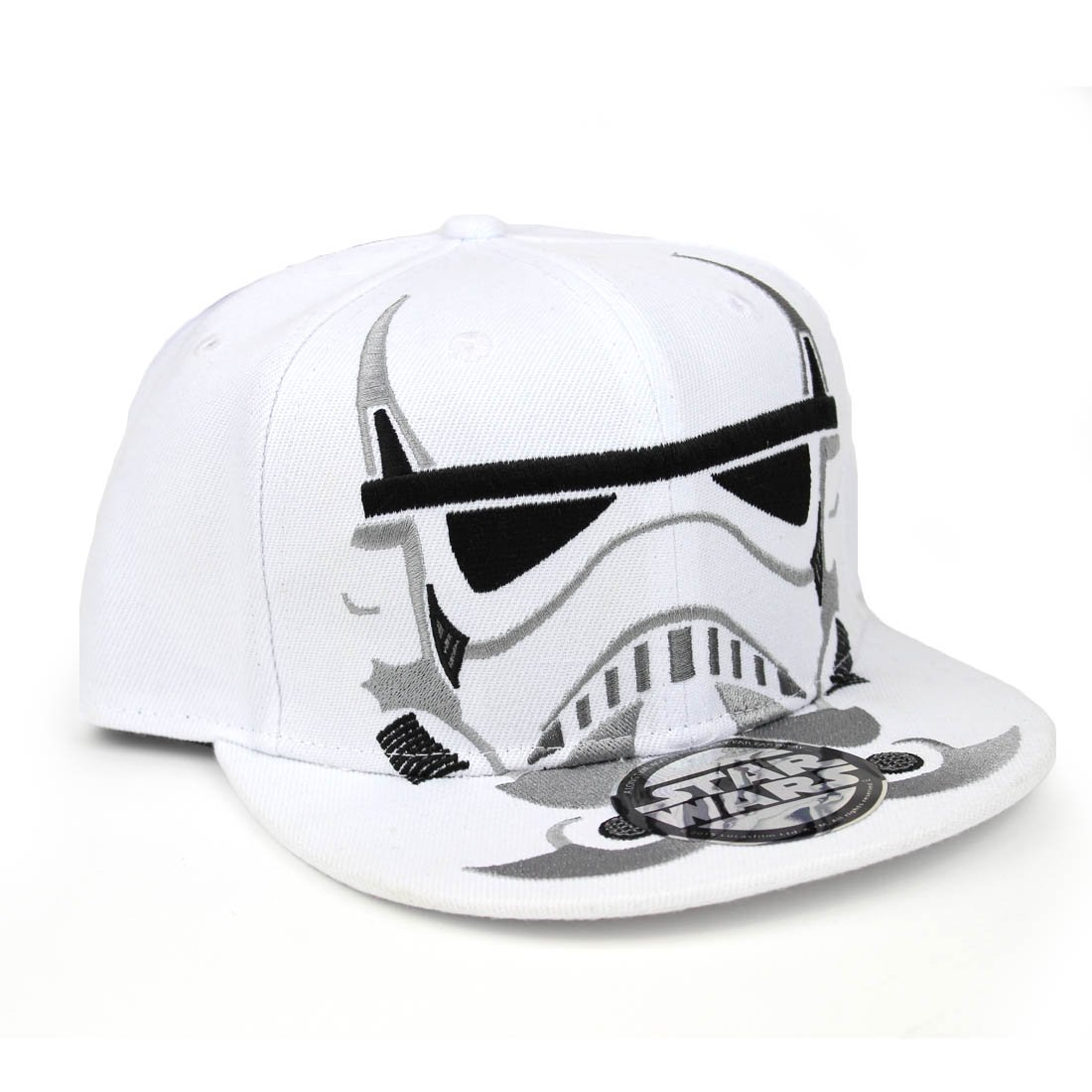 2b5833db4 Star Wars Stormtrooper Men's Snapback Baseball CAP White / Silver ...