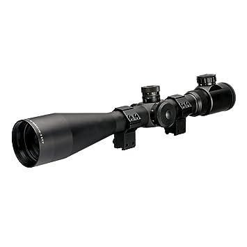 AGS Cobalt 6-24x50 SF Red Green IR Mil Dot 30mm Rifle Scope With Sun Shade  + Mounts AGSS62450IR Suits Most Modern Air Arms, BSA, Crosman, Gamo,