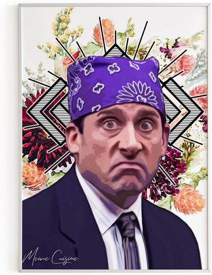 Prison Mike Poster - The Office TV Show Michael Scott Art Print - 11x17 18x24 24x36 - Funny Home Dorm Decor