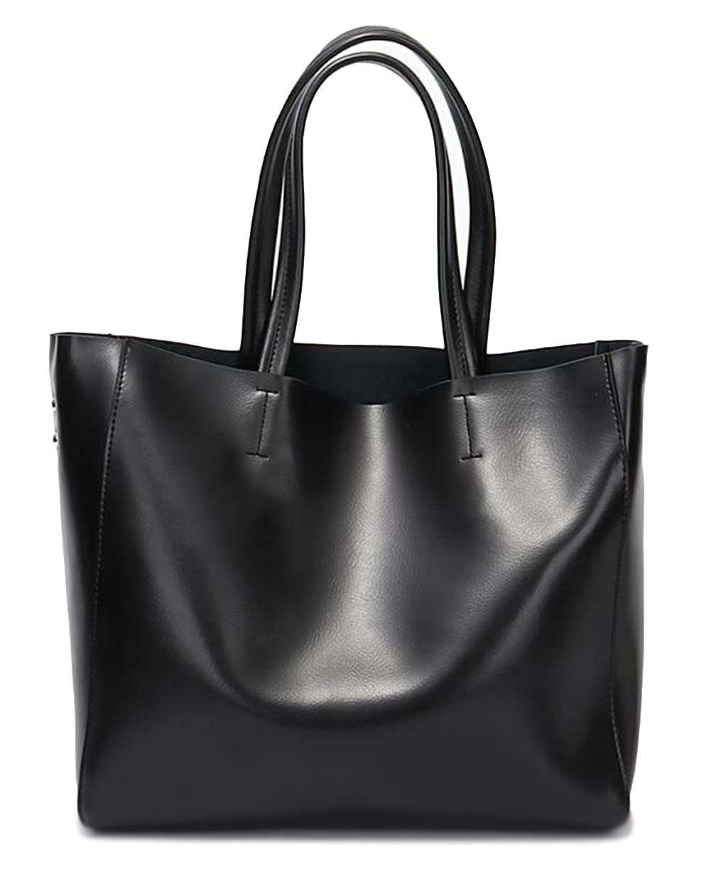 b64535311b83 Amazon.com  Covelin Women s Handbag Genuine Soft Leather Tote Shoulder Bag  Hot Black  Shoes