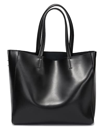1318439d19 Covelin Women s Handbag Genuine Soft Leather Tote Shoulder Bag Hot Black