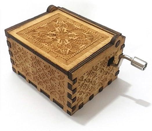 INSHO especial regalo caja de música, Harry Potter hecho a mano grabado de madera para regalo de Navidad, San Valentín: Amazon.es: Hogar
