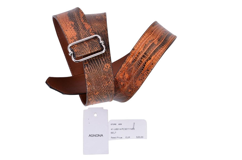 Agnona Cinture Donna Braun Pelle di serpente 75: Amazon.it: Abbigliamento