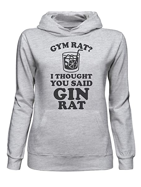 Gym Rat I Thought You Say Gin Rat Sudadera con Capucha para Mujer XX-Large: Amazon.es: Ropa y accesorios