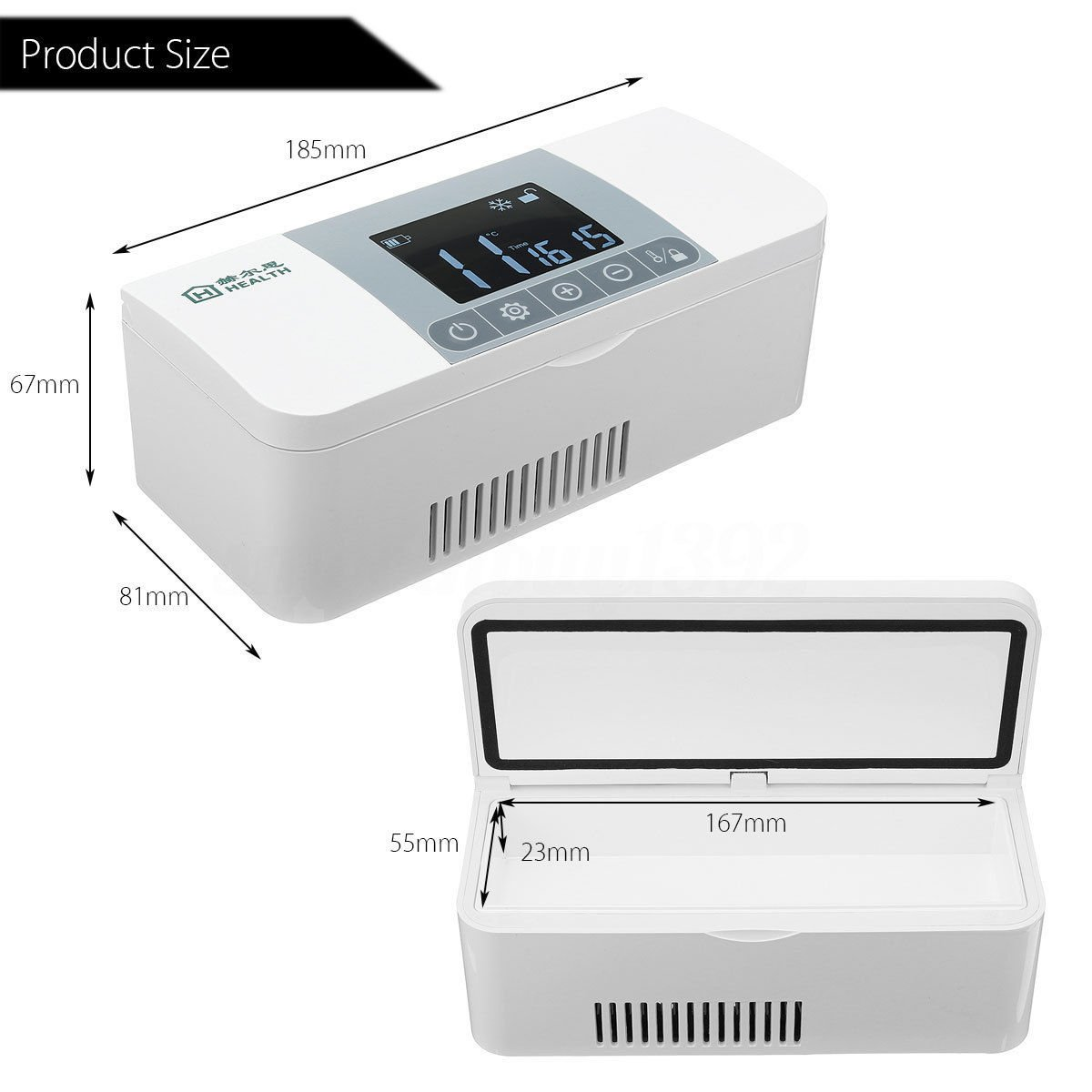 Protable Insulin Cooler 2-8°C Refrigerated Small Box