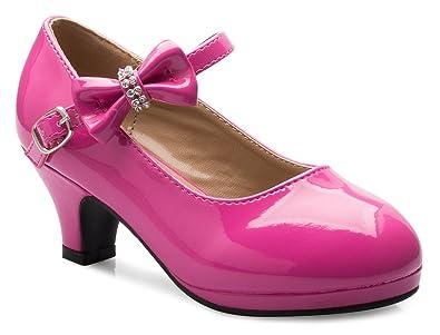 87e447064d Amazon.com | OLIVIA K Girls Bow Mary Jane Kitten Heel Pumps (Toddler ...