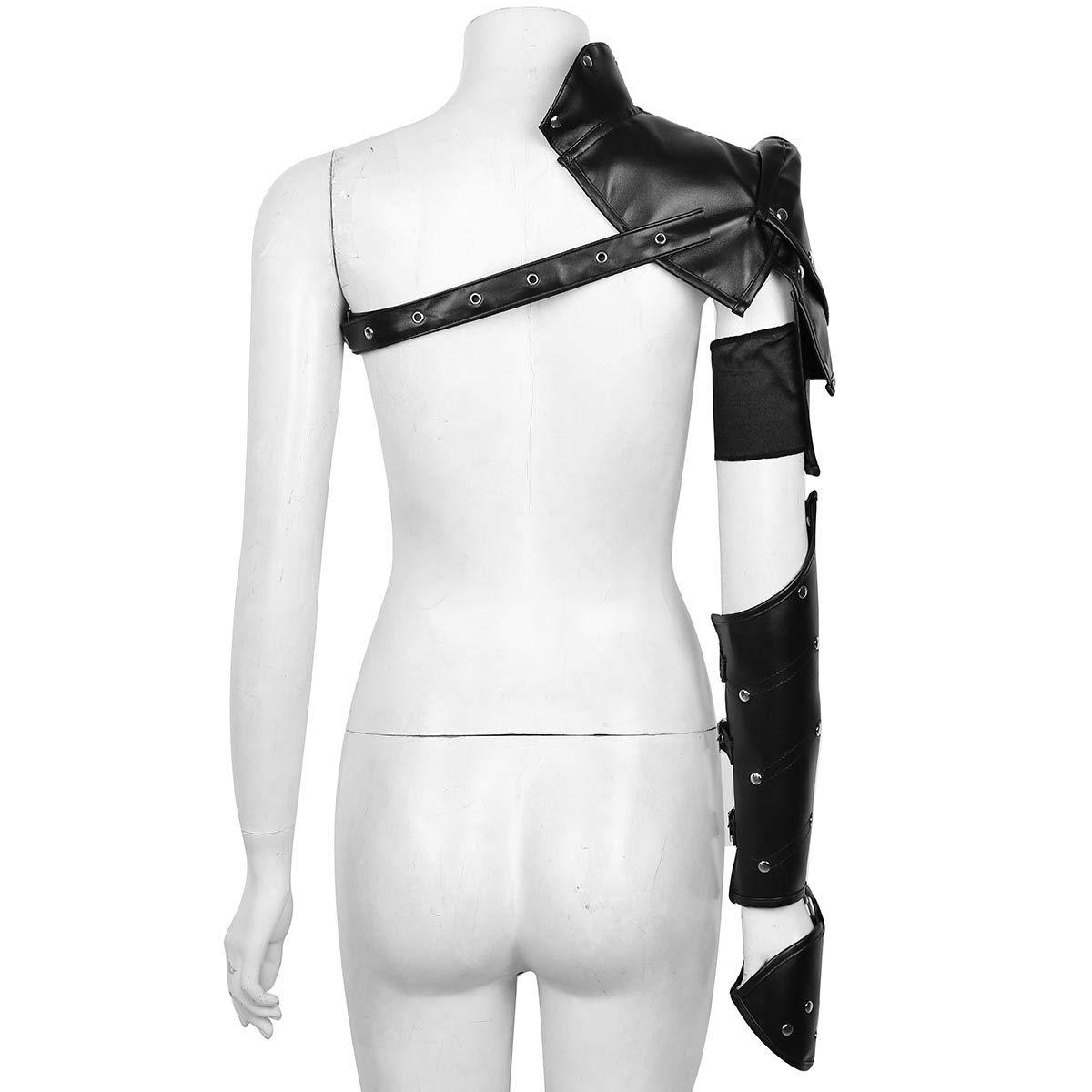 iEFiEL Steampunk Costume Shoulder Armors Metal Rivets PU Leather Retro Armlet Armband Armor Shrug