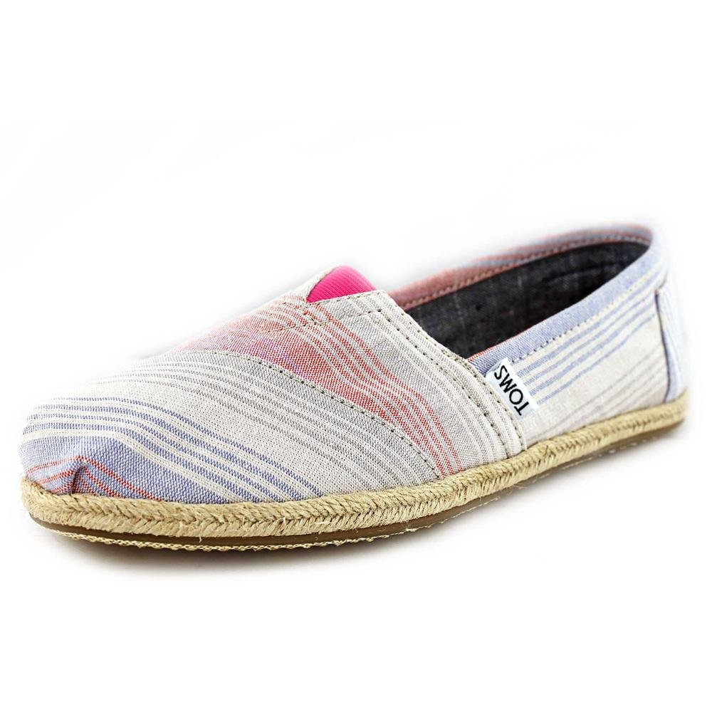 Toms Womens Classic Slip-On Shoes Pink Summer Stripes 9