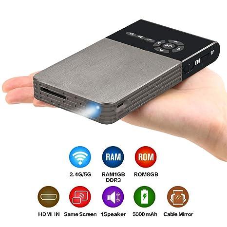 Mini proyector, Smart DLP Full Screen Portable Micro Proyector ...