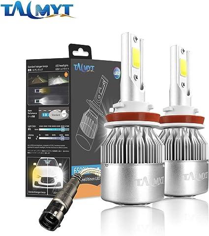H7 LED Faros Delanteros Bombillas 7600LM Xenon Blanco 6000K 12V-24V Bombilla H7 LED Coche 72W 2 L/ámparas