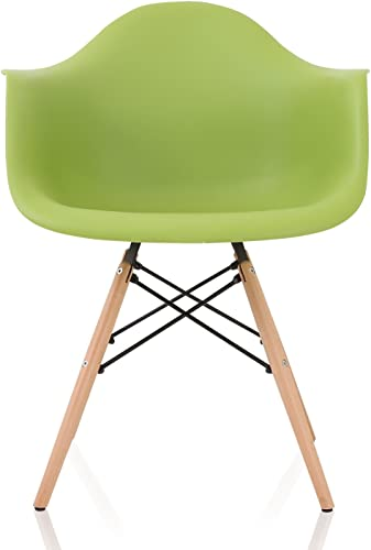 CozyBlock Nordic Molded Plastic Dining Arm Chair