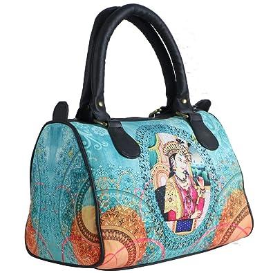 9c00825a4247 Bangprice Canvas digital printed multipurpose Speedy 154 designer stylish  duffle tote and handbag for Girls Women  Amazon.in  Shoes   Handbags