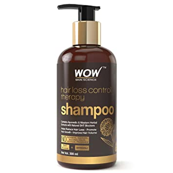 Buy Wow Skin Science Hair Loss Control Therapy Shampoo Increase Thick Healthy Hair Growth Contains Ayurvedic Western Herbal Extracts With Natural Dht Blockers 300 Ml Online At Low
