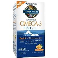 Garden of Life EPA/DHA Omega 3 Fish Oil - Minami Natural Brain Function, Heart and...