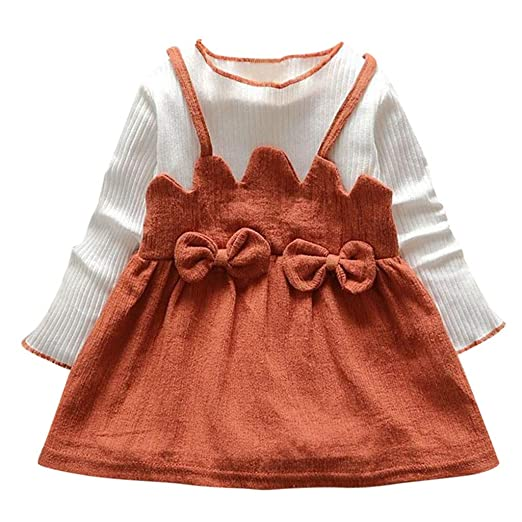 Toddler Baby Girls Summer Dress Long Sleeve Princess Party Dresses Kids Clothes