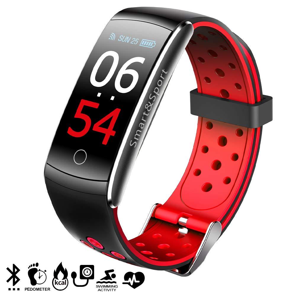 Dam Tekkiwear - Pulsera inteligente Bluetooth 4.0, color rojo y negro