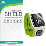 [6-PACK] RinoGear for TomTom Runner Screen Protector [Active Protection] Full Coverage Flexible HD Invisible Clear Shield Anti-Bubble