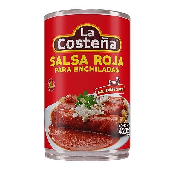 La Costeña Salsa Para Enchiladas Rojas - Paquete de 12 x 420 gr - Total: