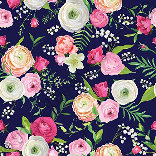 - 18 x 12 LP Inspired Floral HTV 267 Flowers Lilly P Printed Heat Transfer Vinyl Craft Pattern Sheet
