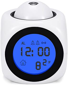 iitrust- Despertador con Proyector ,color blanco: Amazon.es ...
