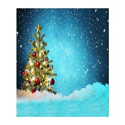 Christmas Scene.Amazon Com Lightclub Christmas Scene Non Woven Fabric