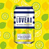 LOVEAU Fruit Infused Sparkling Water. Yuzu, Lemon and Lime Flavour. 24 x 330ml Can Case