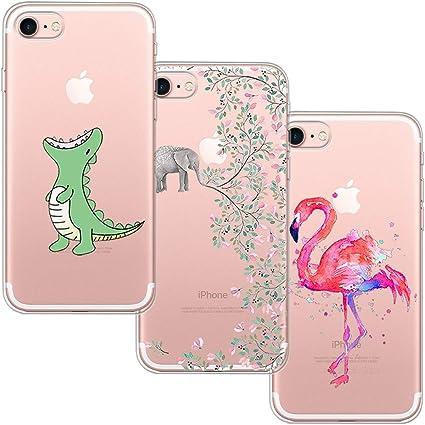 3 Pack] Funda iPhone 7, Funda iPhone 8, Blossom01 Funda Ultra ...