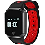 Activity Tracker, Yidarton Fitness Tracker Cardio Pedometro Cardiofrequenzimetro Orologio Braccialetto Sport Bluetooth 4.0 Impermeabile IP67 Bracciale Smartwatch per iOS Android (rosso)