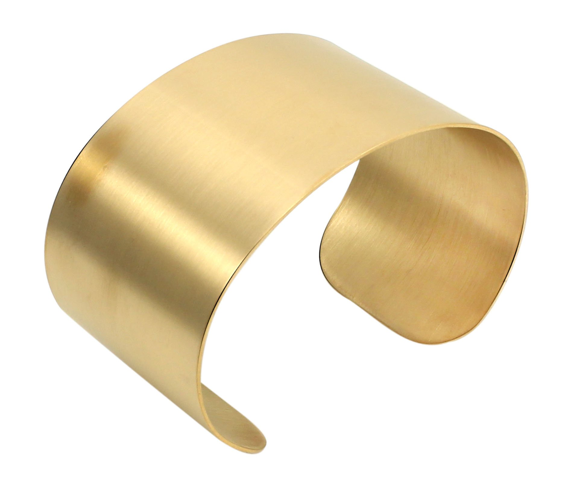 COUYA Gold Plated Wide Matt Cuff Bangle Bracelets for Women Blank Satin Bracelet Wristband Adjustable Size