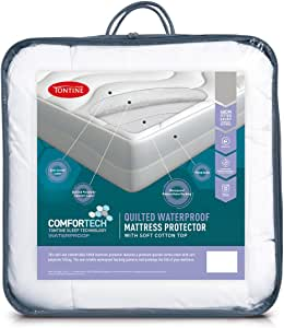 Tontine Comfortech Quilted Waterproof Mattress Protector Comfortech Quilted Waterproof Mattress Protector,Single