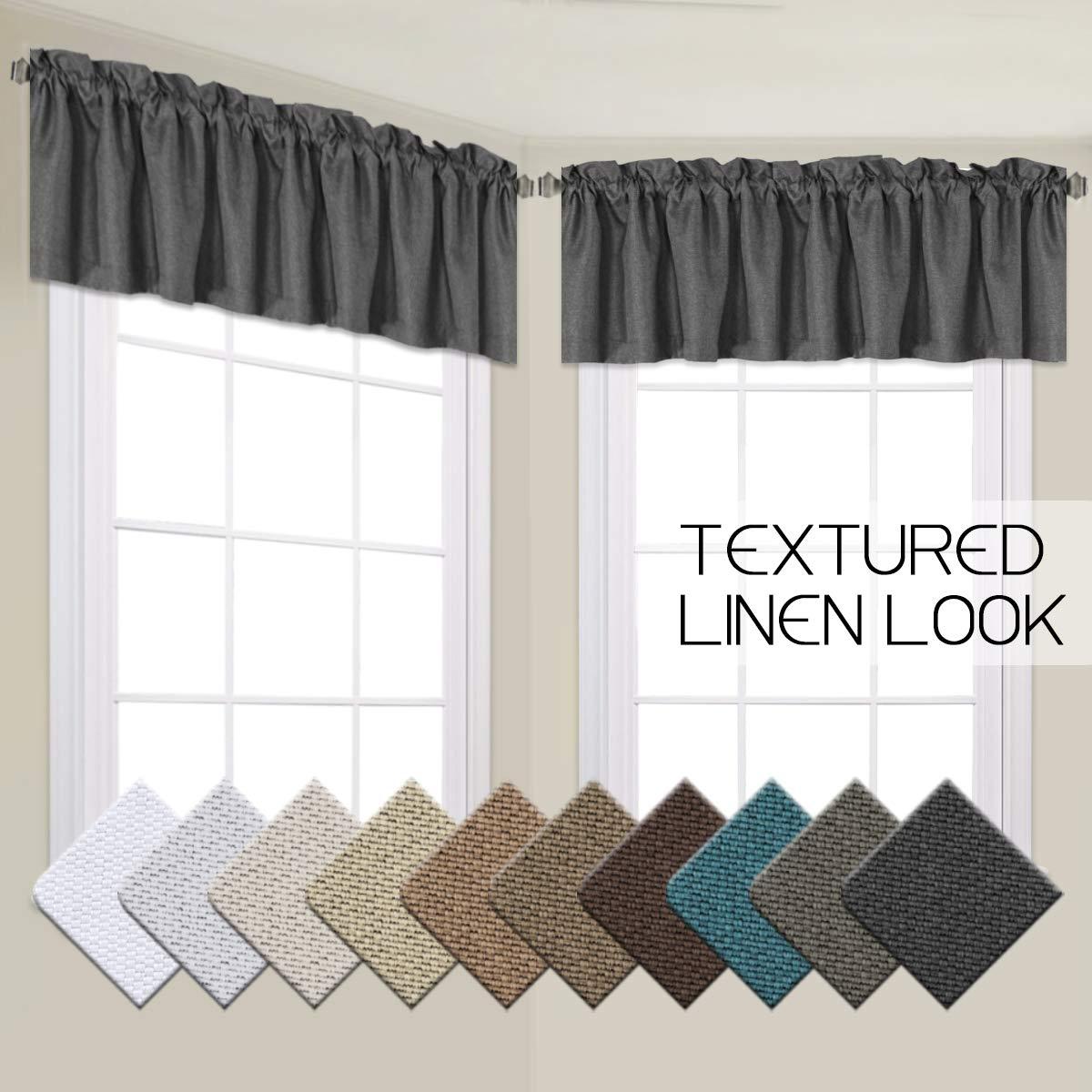 VERSAILTEX Energy Saving Textured Linen Curtain Valances