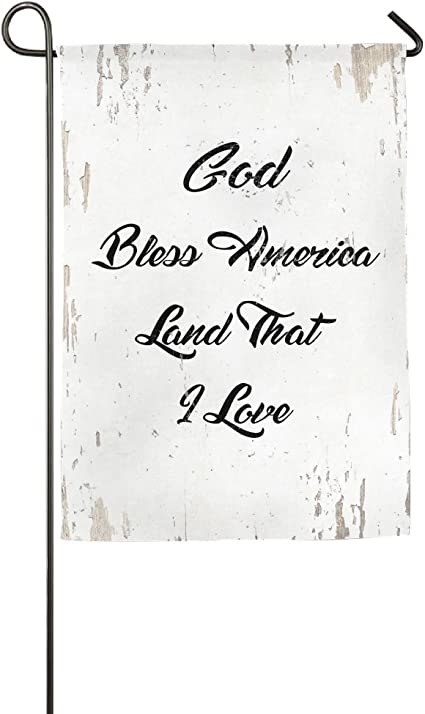 Amazon Com God Bless America Land That I Love Bible Verse Welcome Garden Flag Yard Flag Family Flag With Flag Stand Sports Outdoors
