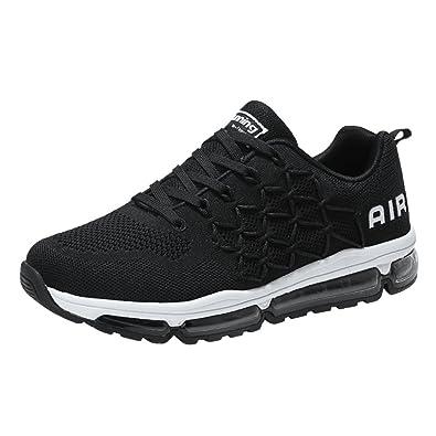 5b7d9f5b849a6 BETY Herren Damen Air Sportschuhe Laufschuhe mit Luftpolster Turnschuhe  Profilsohle Running Sneakers Leichte Schuhe 34-45 EU