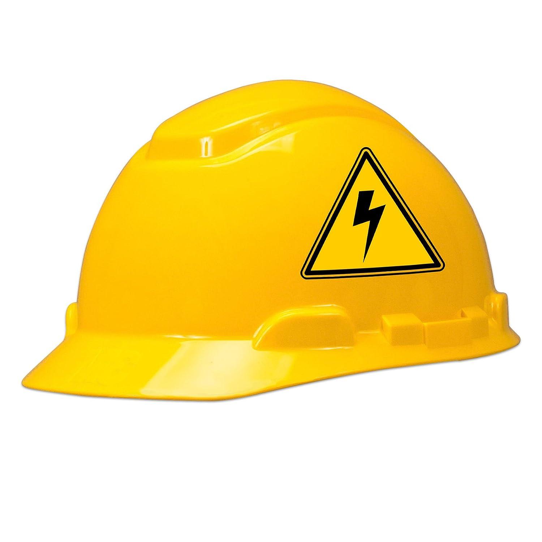 High voltage hard hat helmet sticker set of 3 stickers amazon com