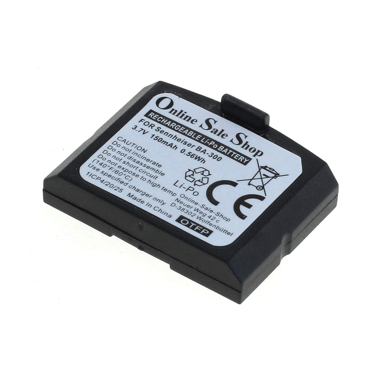 Batteria compatibile con Sennheiser BA300 RI410 Set 830 833 840 843 TV 900