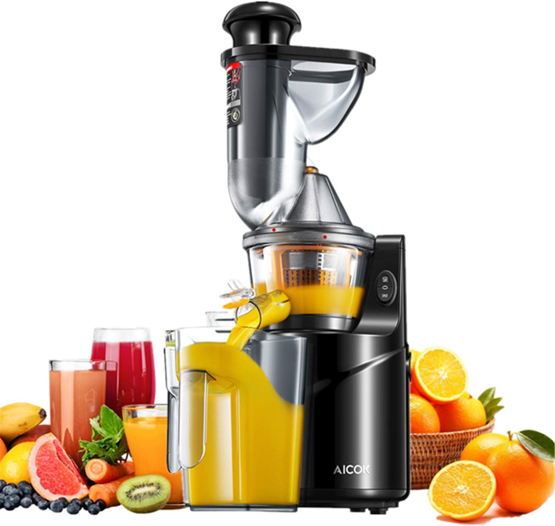 Aicok Slow Juicer Exprimidor de frutas y verduras con 75 mm de ...