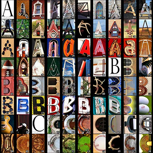 Letter Art Alphabet Photos for DIY Name Art Personalized Custom Gifts. Fast Free Shipping. 4x6 Inches. Color Prints. (Art Picture Letter)