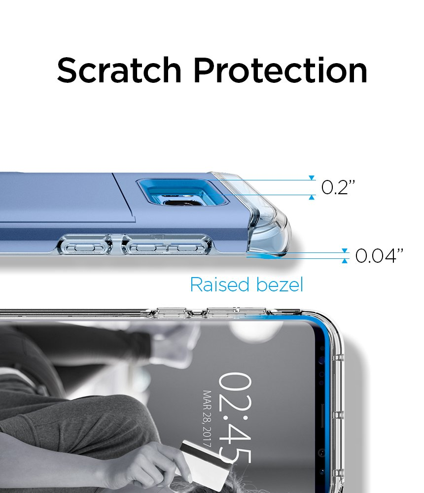 Spigen Crystal Wallet Galaxy S8 Case with Slim Dual Layer Wallet Design and Card Slot Holder for Galaxy S8 (2017) - Coral Blue by Spigen (Image #8)