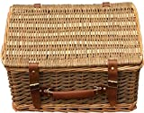 33cm Double Steamed Green Willow Empty Picnic Basket