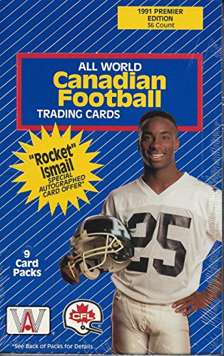 1991 All World Canadian Football Premiere Edition Sealed Hobby Box Of 36 9 Card Packs ()
