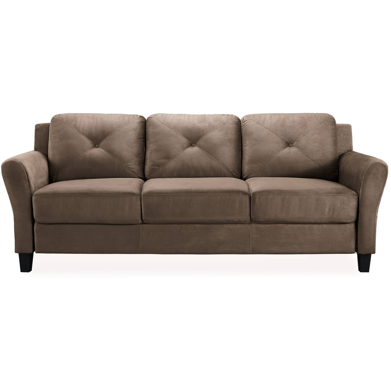 Amazon.com: Sofá marrón muebles de salón cojines de ...